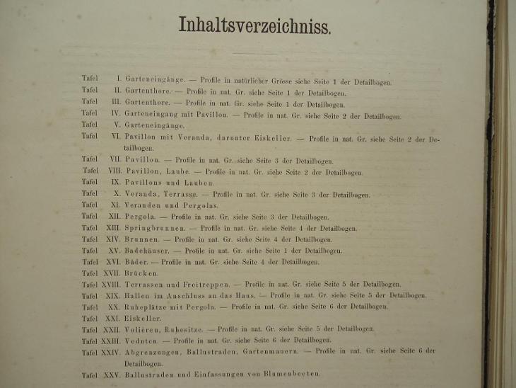 Motive zu GARTEN-ARCHITEKTUREN......Leipzig  1879 - Antikvariát
