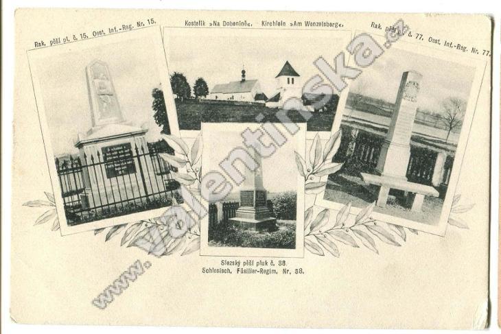 Václavice, Dobenín, Náchod, pomník válka 1866 - Pohlednice