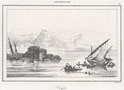 Corfu, Le Bas, oceloryt 1840