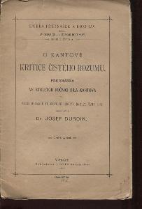 O Kantově Kritice čistého rozumu (1896)