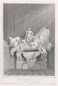 Strassburg hrob de Saxe, oceloryt, (1830)
