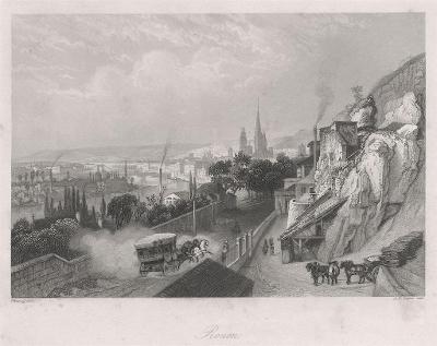 Rouen, Payne,oceloryt, 1860