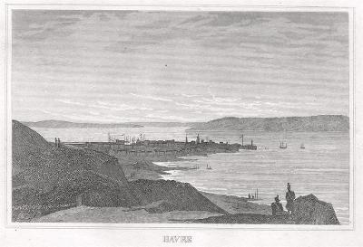 Havre , oceloryt, 1850