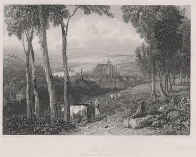 Eu Normandie , oceloryt, 1845