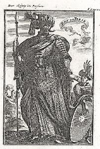 Persie král, Mallet, mědiryt, 1719