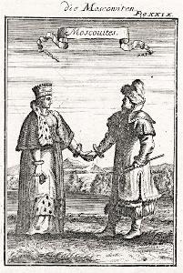 Rusové, Mallet, mědiryt, 1719