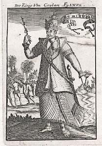 Ceylon král, Mallet, mědiryt, 1719