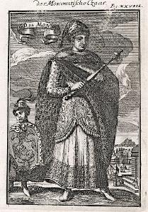 Rusko car, Mallet, mědiryt, 1719