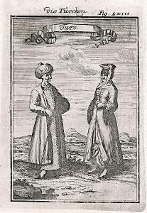 Turecko Turci, Mallet, mědiryt, 1719