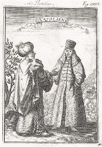 Anatolie , Mallet, mědiryt, 1719