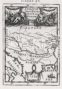 Turecko evropské, Mallet, mědiryt, 1719