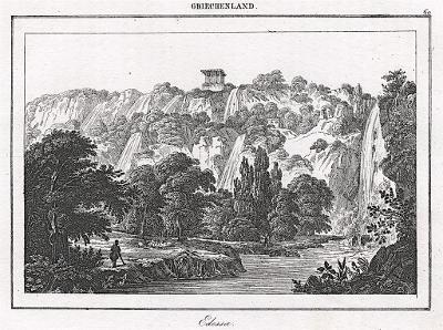 Edessa, Le Bas, oceloryt 1840