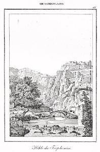 Trophonius cave, Le Bas, oceloryt 1840