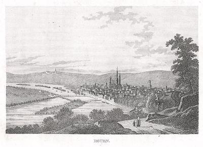 Rouen, oceloryt, (1850)