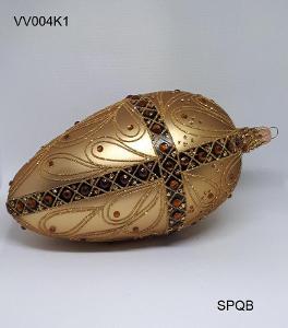 VV004K1 - vejce velké, zlatá, 15cm