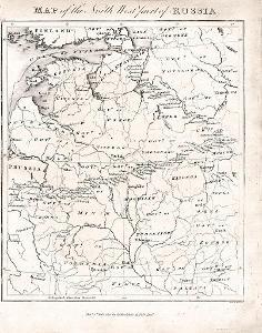 Rusko severozápadní, mědiryt 1815