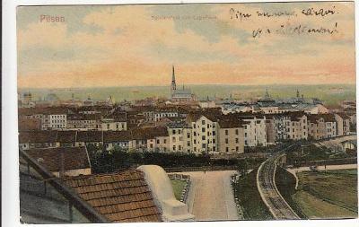 Plzeň celkový pohled cca 1908