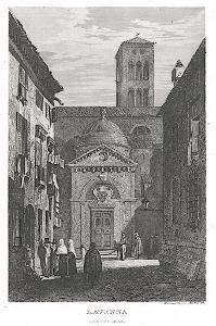 Ravenna , oceloryt, 1840