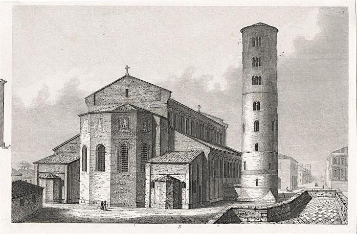 Ravenna St. Apolinaire , oceloryt, 1840 - Antikvariát