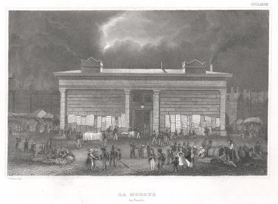 Paris Morgue, Meyer, oceloryt, 1850