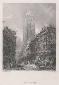 Rouen, Whitaker, oceloryt, (1840)