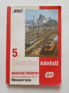 Železniční návěsti 5 učebnice ČD železnice návěstní předpisy