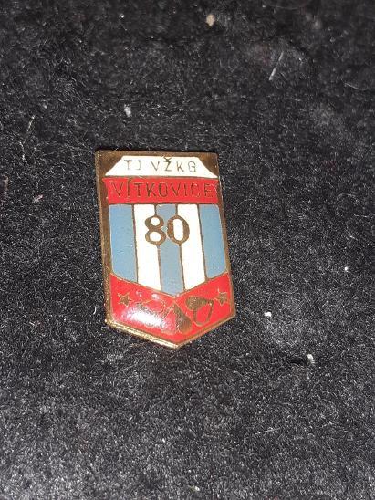 Odznak TJ VŽKG VÍTKOVICE, výroční 80 let - Faleristika