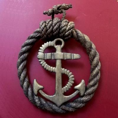 Vodácký velký Odznak,Plaketa S Kotvou na stěnu 200x150x50mm
