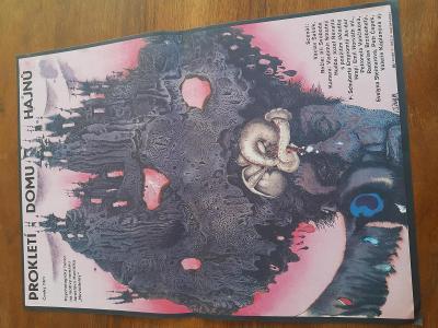 orig. filmovy plakat z kina A3 PROKLETI DOMU