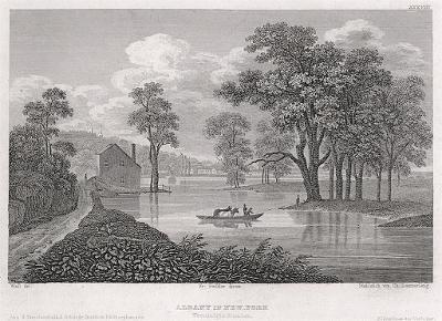 Albany in New York, Meyer, oceloryt, 1850
