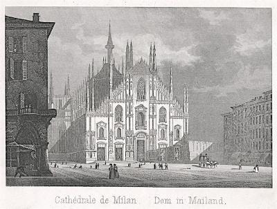 Milan Dom, oceloryt,(1840)