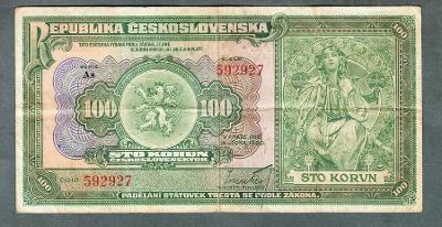 100 korun 1920 NEPERFOROVANA !!! VZÁCNÁ