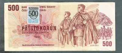 500 kčs 1973 SLOVENSKÝ KOLEK serie U