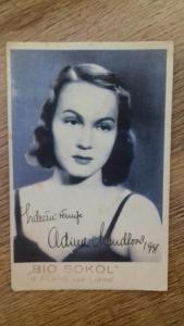 Autogram Adina Mandlová