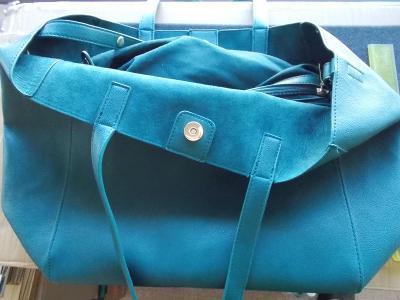 Praktická koženková kabelke kabela taška s vnitřní kabelkou 1+1