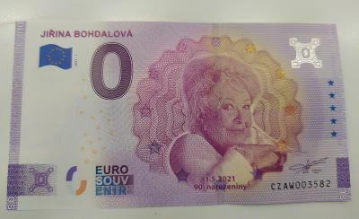 0 Euro Souvenir  JIŘINA BOHDALOVÁ