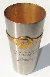 """ Kriegsbecher 1914-1916 "" - za dar na valecnou sbirku - dekorativni"