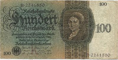 """100 RM-1924 s.B podtisk """"K"""" vzácná!  Ba-D7"""