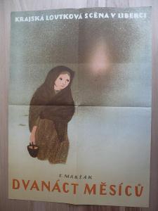 Dvanáct měsíčků (filmový plakát, loutkový film ČSS