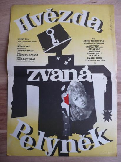 Hvězda zvaná Pelyněk (filmový plakát, film ČSSR 1964,  - Antikvariát