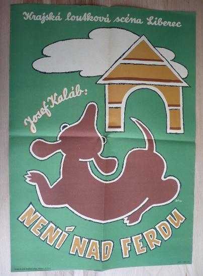 Není nad Ferdu (plakát, loutkové představení, loutkov - Antikvariát