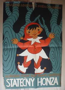 Statečný Honza (plakát, loutkové představení, námět