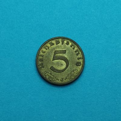 5 pfennig 1937 J .. minc: Hamburg .. !!