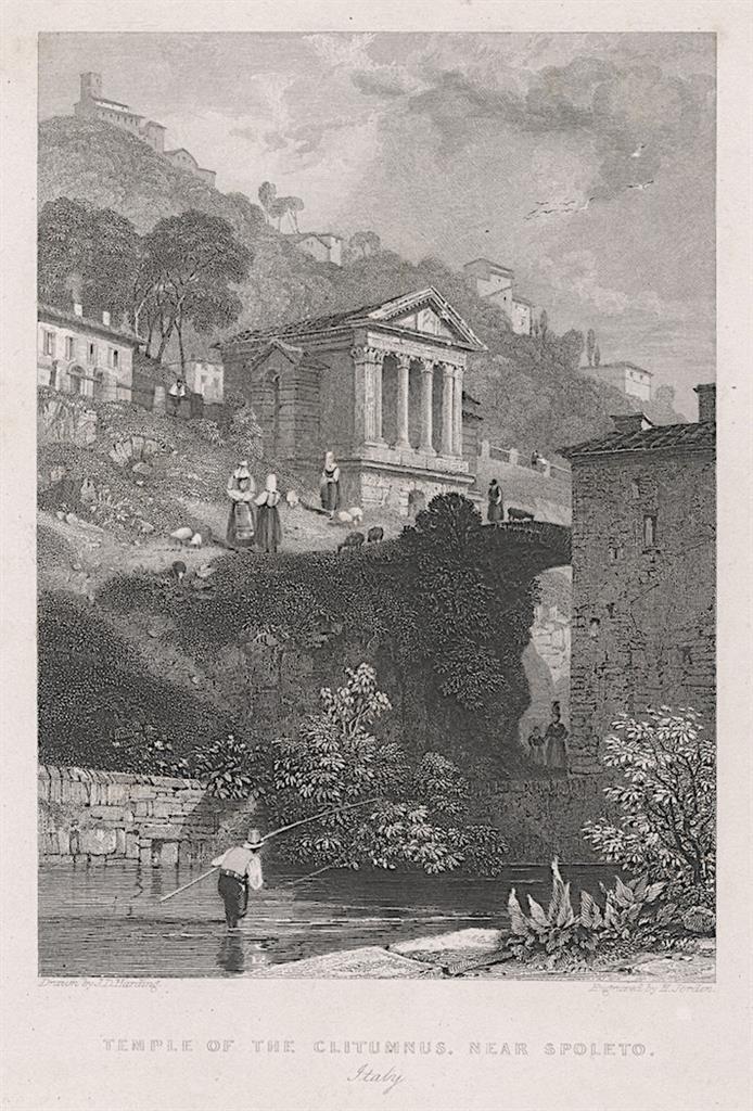 Spoleto, Fischer oceloryt, (1840) - Antikvariát