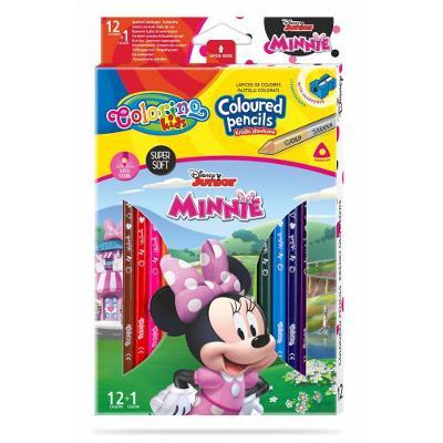 Colorino pastelky Minnie Trio 13 barev + ořezávátko