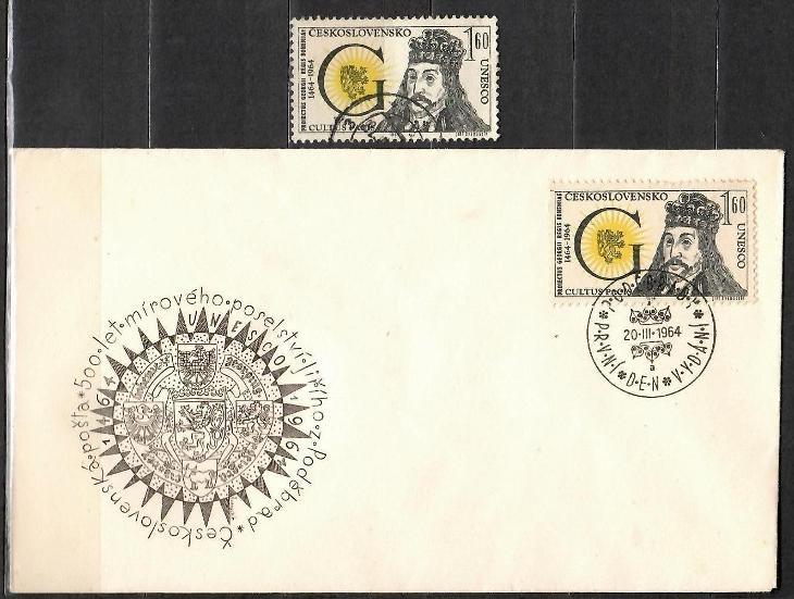 V5975   - FDC obálka prvního dne vydání + známky navíc - Filatelie