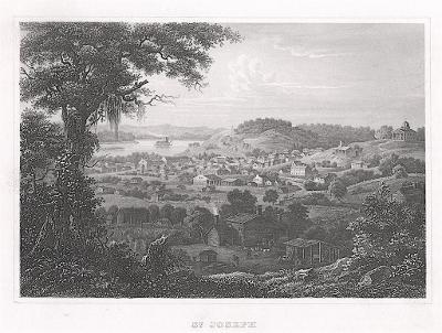 St. Joseph Missouri, Meyer, oceloryt, 1850