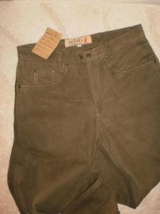lovecké kožené kalhoty