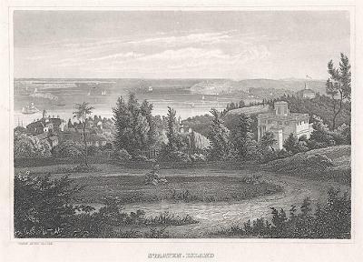 Staaten Island New York, Meyer, oceloryt, 1850