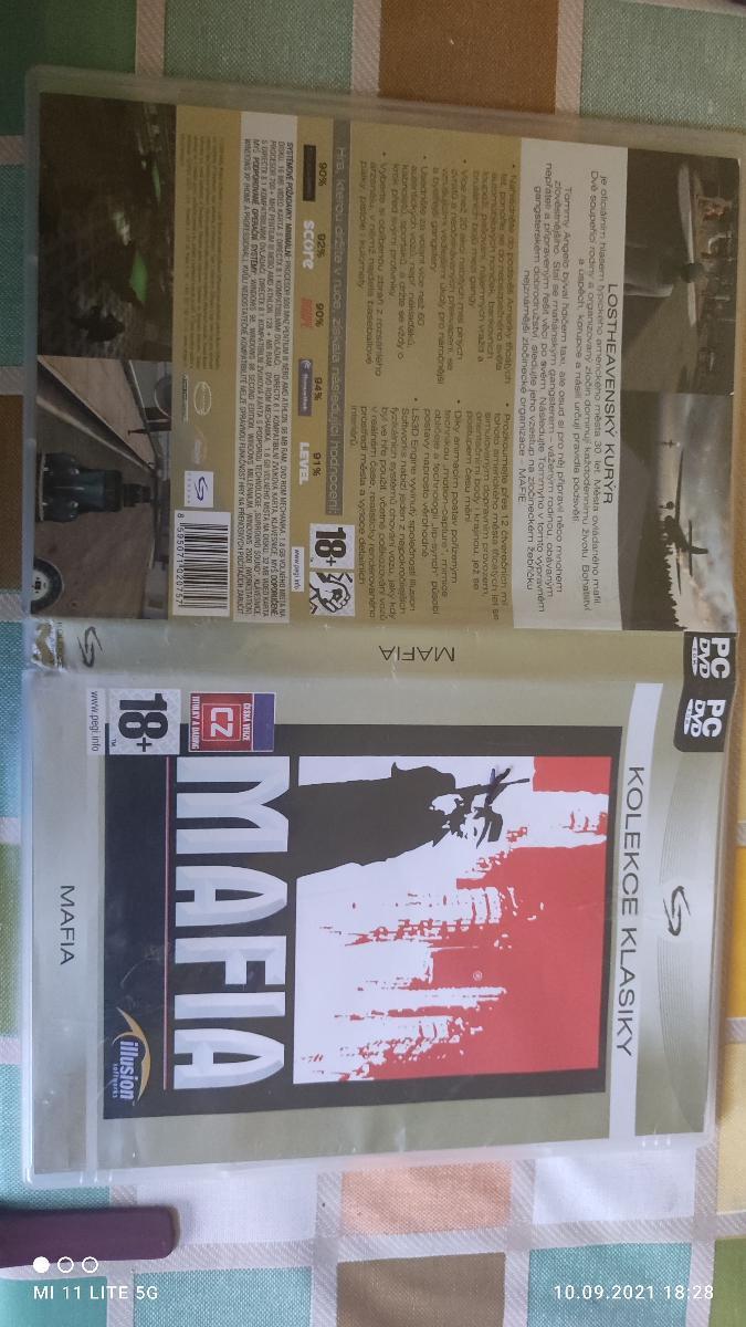 Mafia 1 CZ dabing PC-DVD - Hry